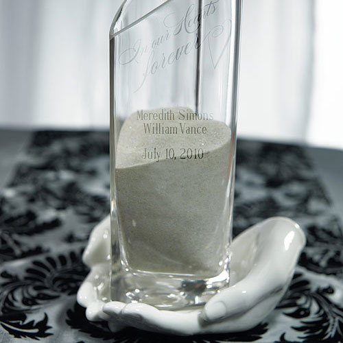 Heart Shaped Glass Memorial Vase with